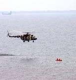 Elicottero. Occupazione di salvataggio Fotografia Stock Libera da Diritti