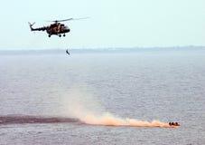 Elicottero. Occupazione di salvataggio Immagini Stock