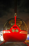 Elicottero privato mantenuto al porticciolo Immagini Stock Libere da Diritti