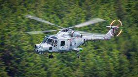 Elicottero reale di Lynx della marina Fotografia Stock