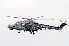 Elicottero reale di Lynx di mare della marina Immagini Stock