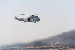 Elicottero spagnolo dei marinai Immagini Stock
