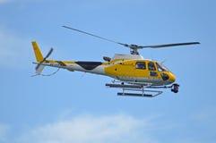 Elicottero usato dalle troupe cinematografica fotografia stock libera da diritti
