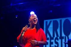 Elida Almeida, Kap-Verde Kriol Jazz Festival lizenzfreie stockbilder