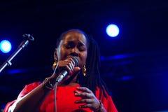 Elida Almeida, Kap-Verde Kriol Jazz Festival stockfotos