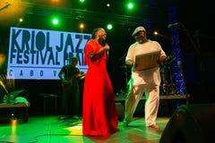 Elida Almeida und Tiloun Kriol Jazz Festival lizenzfreie stockbilder
