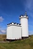 Elie Ness Lighthouse östliga Neuk, pickolaflöjt, Skottland Arkivfoto