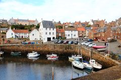 Elie, Scotland. The harbour Stock Photos