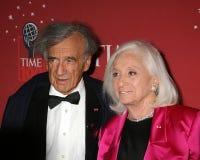 Elie Wiesel und Frau Marion Weisel Stockfotos