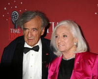 Elie Wiesel and wife Marion Weisel Stock Photos