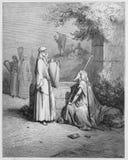 Eliezer i Rebekah royalty ilustracja