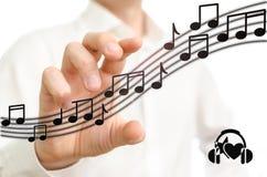 Elija la música Foto de archivo libre de regalías