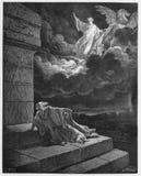 Elijah ascensão ao céu em um chariot do fogo imagens de stock