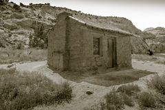 Elijah Behunin and his family of ten lived here. He built this cabin in 1882 and farmed the land (well before it became part of the Capitol Reef National Park Stock Photography