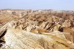 Elijah desert panorama. Elijah valley in Israel close to Jerusalem stock photography