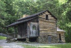 Elijah Oliver Log Cabin, Great Smoky Mountains National Park Stock Photo