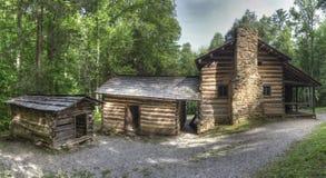 Elijah Oliver Log Cabin, parc national de Great Smoky Mountains image libre de droits