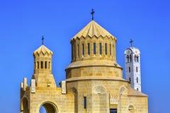 Elijah` s Heuvel Christian Churches Bethany Beyond Jordan royalty-vrije stock afbeelding