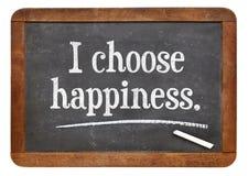 Elijo felicidad Imágenes de archivo libres de regalías