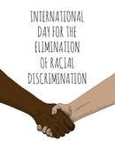 Eliminação da discriminação racial ilustração stock