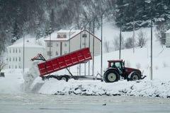 Eliminação da neve de Akureyri Foto de Stock Royalty Free