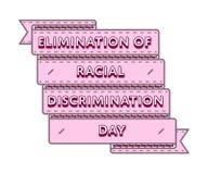 Eliminação do emblema do dia da discriminação racial ilustração royalty free