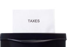 Eliminación de impuestos Fotografía de archivo