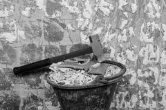 Eliminación de la pared Fotografía de archivo libre de regalías