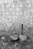 Eliminación de las baldosas cerámicas Imagen de archivo