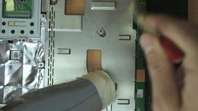 Eliminación del polvo del cuaderno de la tapa almacen de video