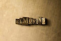 ELIMINACIÓN - el primer del vintage sucio compuso tipo de palabra en el contexto del metal Imagen de archivo libre de regalías