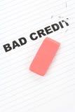Eliminador e crédito do mau da palavra imagens de stock
