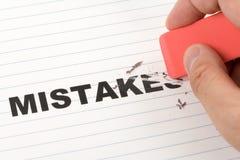 Eliminador e erros da palavra fotografia de stock