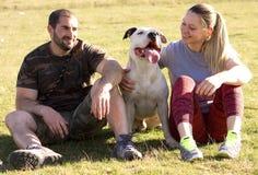 Eliminando cane per una passeggiata Immagini Stock Libere da Diritti