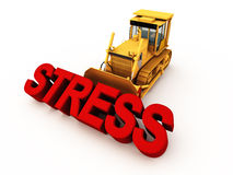 Eliminate stress. Killing stress, taking precautions, medication, exercise and relaxation techniques to remove stress from life Stock Images