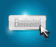 Eliminated button illustration design Stock Images