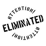 Eliminated rubber stamp Royalty Free Stock Images