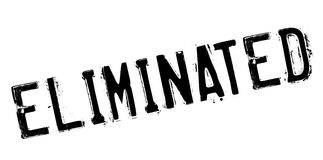 Eliminated rubber stamp Royalty Free Stock Photos