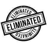 Eliminated rubber stamp Stock Images
