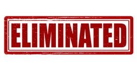 Eliminated. Stamp with word eliminated inside, illustration vector illustration
