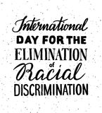Elimination of Racial Discrimination. Internationsl Day for the Elimination of Racial Discrimination vector illustration