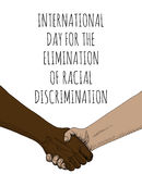 Elimination of Racial Discrimination. Internationsl Day for the Elimination of Racial Discrimination. Handshake sketch stock illustration