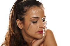 Eliminazione Make up Fotografia Stock