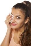 Eliminazione Make up Fotografie Stock