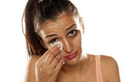 Eliminazione Make up Fotografie Stock Libere da Diritti