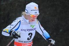 Elin Mohlin - przecinającego kraju narciarstwo Fotografia Royalty Free