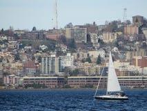 Eliot-Bucht Seattle Lizenzfreie Stockfotografie