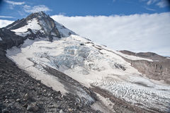 Eliot Glacier on Mt. Hood Stock Photos