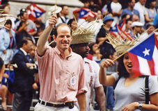 Eliot Spitzer. Then New York Attorney General Eliot Spitzer marches in the annual Puerto Rican Day Parade up Manhattan's Fifth Avenue on June 13, 1999. Spitzer stock photo