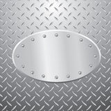 Elipse metal plate Royalty Free Stock Photos